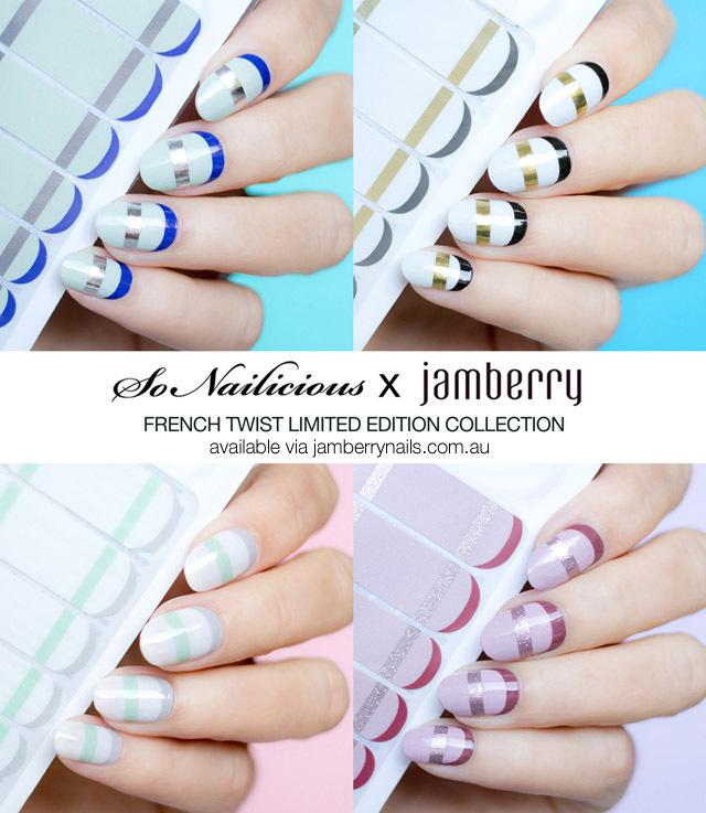 SoNailicious x Jamberry nail wraps: Mint French Twist