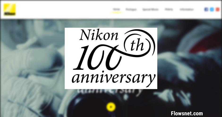 NIKON RADĪJIS 100. GADADIENAI VELTĪTO LOGOTIPU UN VIETNI